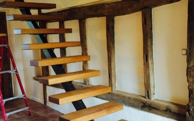 Designer staircase to barn conversion
